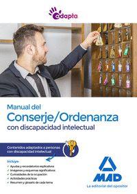 MANUAL DEL CONSERJE;ORDENANZA CON DISCAPACIDAD INTELECTUAL. CONTENIDOS ADAPTADOS