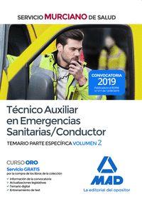 TÉCNICO AUXILIAR EN EMERGENCIAS SANITARIAS/CONDUCTOR DEL SERVICIO MURCIANO DE SATEMARIO PARTE E