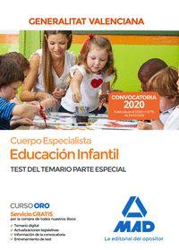 CUERPO ESPECIALISTA EN EDUCACIÓN INFANTIL DE LA ADMINISTRACIÓN DE LA GENERALITAT.