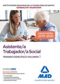 ASISTENTE;A TRABAJADOR;A SOCIAL DE LAS INSTITUCIONES SANITARIAS DE LA CONSELLERÍ.