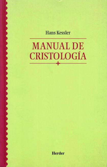 MANUAL DE CRISTOLOGÍA