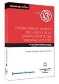 PAUTAS PARA EL ANÁLISIS DEL LÉXICO DE LA JURISPRUDENCIA DEL TRIBUNAL S