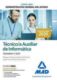 TÉCNICO AUXILIAR DE INFORMÁTICA DE LA ADMINISTRACIÓN GENERAL DEL ESTADO. TEMARIO