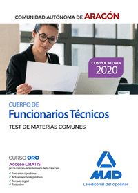 FUNCIONARIOS TECNICOS TEST MATERIAS COMUNES