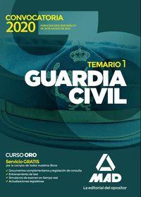 GUARDIA CIVIL. TEMARIO VOLUMEN 1 2020