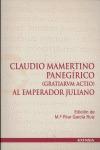 CLAUDIO MAMERTINO PANEGÍRICO (GRATIARVN ACTIO) AL EMPERADOR JULIANO
