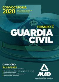 GUARDIA CIVIL. TEMARIO VOLUMEN 2 2020
