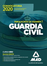 GUARDIA CIVIL SIMULACROS DE EXAMEN VOL, 1