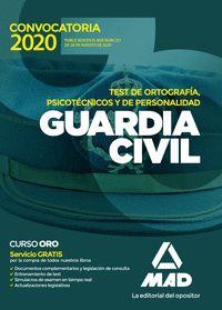 GUARDIA CIVIL TEST DE ORTOGRAFIA,PSICOTÉCNICOS Y DE PERSONALIDAD