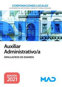 AUXILIAR ADMINISTRATIVO/A CORPORACIONES LOCALES. SIMULACROS DE EXAMEN