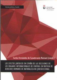 LOS EECTOS JURÍDICOS EN ESPAÑA DE LAS DECISIONES DE LOS ÓRGANOS INTERNACIONALES