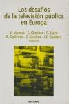 LOS DESAFÍOS DE LA TELEVISIÓN PÚBLICA EN EUROPA: ACTAS DEL XX CONGRESO INTERNACIONAL DE COMUNIC
