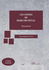 LECCIONES DE DERECHO PENAL. PARTE GENERAL