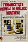 FUNDAMENTOS Y TECNICAS ANALISIS BIOQUIMICO