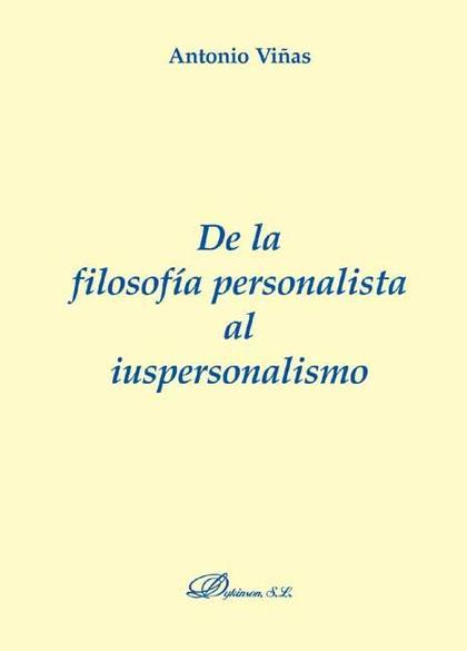 De la filosofía personalista al iuspersonalismo