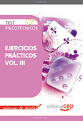 TEST PSICOTÉCNICOS EJERCICIOS PRÁCTICOS VOL. III. COLECCIÓN DE BOLSILLO.