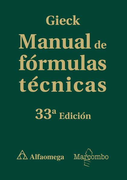 MANUAL DE FÓRMULAS TÉCNICAS.