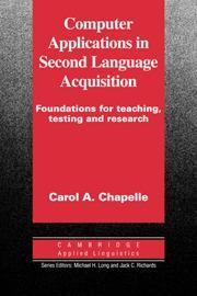 COMPUTER APPLICATIONS SECOND LANGUAGE ACQUISITION