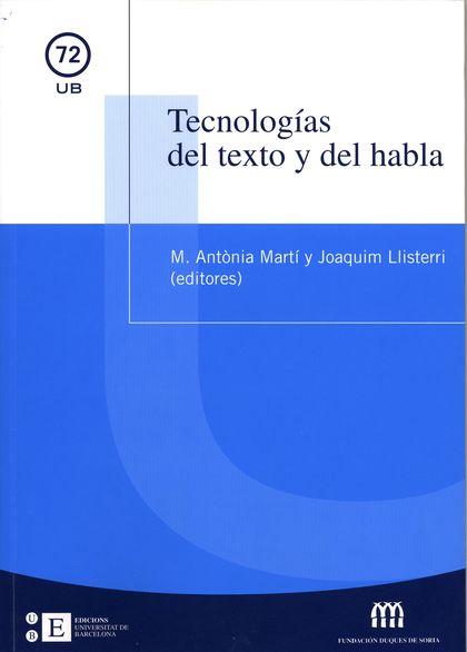 TECNOLOGÍAS DEL TEXTO Y DEL HABLA
