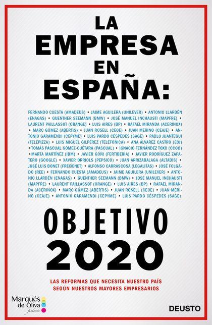 LA EMPRESA EN ESPAÑA: OBJETIVO 2020.