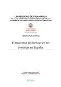 EL SÍNDROME DEL BURNOUT EN LOS DENTISTAS EN ESPAÑA