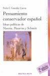 PENSAMIENTO CONSERVADOR ESPAÑOL.
