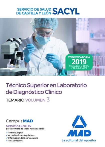 TEMARIO VOL. 3 TÉCNICO SUPERIOR EN LABORATORIO DE DIAGNÓSTICO CLÍNICO DEL SERVIC