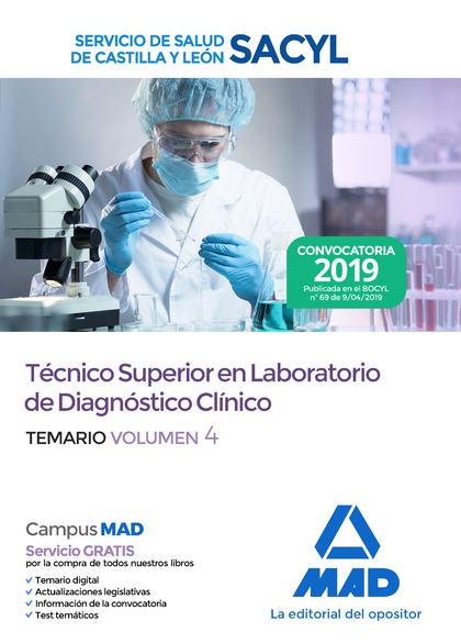 TEMARIO VOL. 4 TECNICO SUPERIOR EN LABORATORIO DE DIAGNOSTICO CLINICO DEL SERVCI.