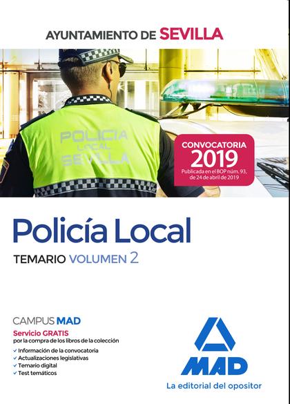 POLICÍA LOCAL DEL AYUNTAMIENTO DE SEVILLA. TEMARIO VOLUMEN 2.