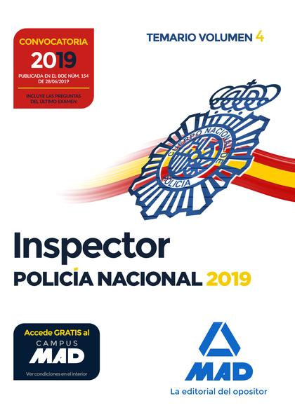 INSPECTOR DE POLICÍA NACIONAL. TEMARIO VOLUMEN 4.