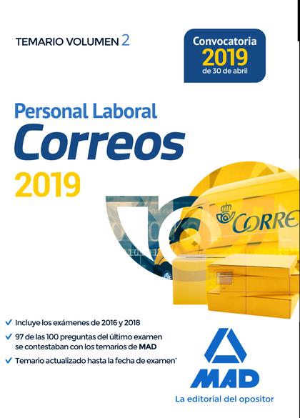 PERSONAL LABORAL DE CORREOS Y TELÉGRAFOS. TEMARIO VOLUMEN 2.