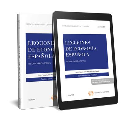 LECCIONES DE ECONOMÍA ESPAÑOLA (PAPEL + E-BOOK).