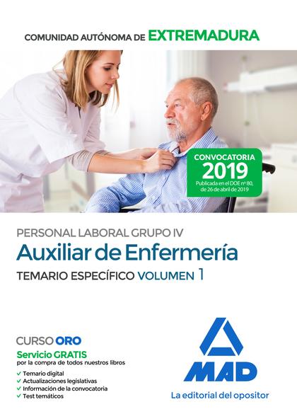 AUXILIAR DE ENFERMERÍA PERSONAL LABORAL (GRUPO IV) DE LA ADMINISTRACIÓN DE LA CO