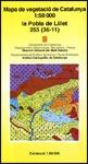 MAPA DE VEGETACIÓ DE CATALUNYA 1:50.000 LA POBLA DE LILLET 255(36-11)