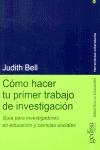 CÓMO HACER TU PRIMER TRABAJO DE INVESTIGACIÓN: GUÍA PARA INVESTIGADORE