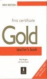 FIRST CERT GOLD TEACHER´S BOOK NEW EDITION