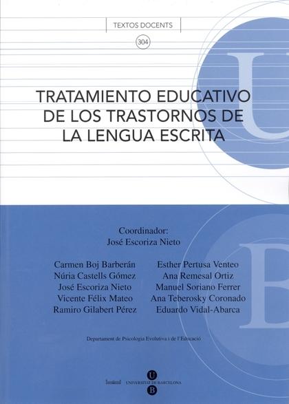 TRATAMIENTO EDUCATIVO DE LOS TRASTORNOS DE LA LENGUA ESCRITA
