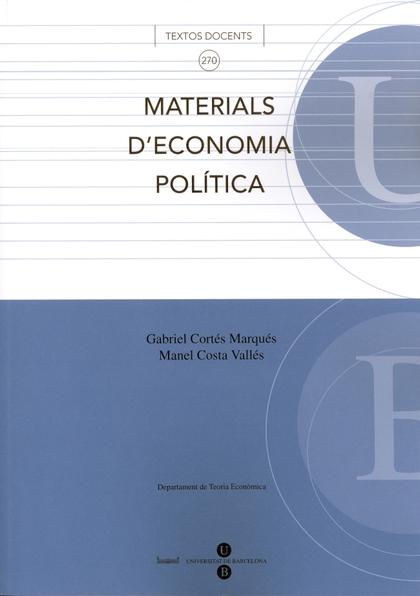 MATERIALS D´ECONOMIA POLÍTICA