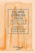 RESUM DE LITERATURA LLATINA : ANTOLOGIA DE TEXTOS A CURA D´EUSEBI AYENSA