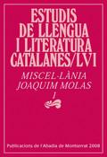 MISCEL·LÀNIA JOAQUIM MOLAS, 1.