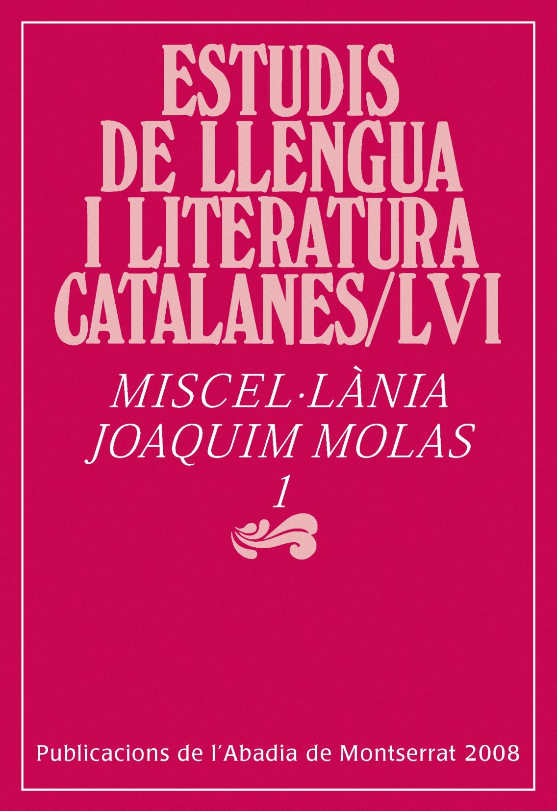 MISCEL·LÀNIA JOAQUIM MOLAS
