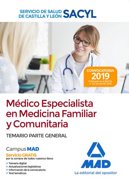 MÉDICO ESPECIALISTA EN MEDICINA FAMILIAR Y COMUNITARIA DEL SERVICIO DE SALUD DE
