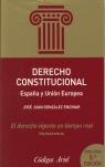 DERECHO CONSTITUCIONAL: ESPAÑA Y UNIÓN EUROPEA