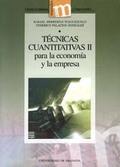 TÉCNICAS CUANTITATIVAS II PARA LA ECONOMÍA Y LA EMPRESA