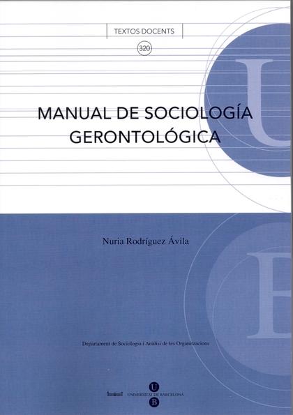 MANUAL DE SOCIOLOGÍA GERONTOLÓGICA