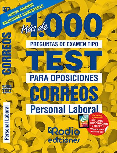 CORREOS. PERSONAL LABORAL. MÁS DE 1.000 PREGUNTAS TIPO TEST PARA OPOSICIONES..