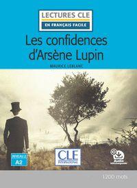 LES CONFIDENCIAS D´ARSÈNE LUPIN - NIVEAU 2;A2 - LIVRE