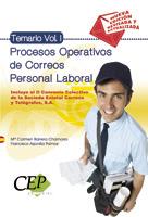 TEMARIO VOL I PROCESOS OPERATIVOS DE CORREOS. PERSONAL LABORAL.
