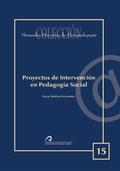 PROYECTOS DE INTERVENCIÓN EN PEDAGOGÍA SOCIAL