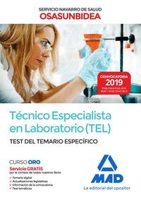 TECNICO ESPECIALISTA EN LABORATORIO (TEL) DEL SERVICIO NAVARRO DE SALUD-OSASUNBITEST DEL TEMARI